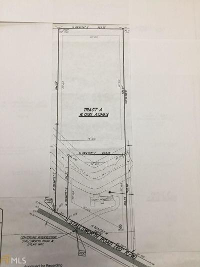 McDonough Residential Lots & Land New: 393 Stallsworth Rd