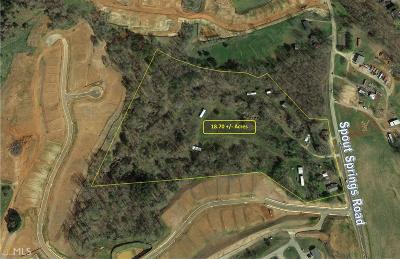 Flowery Branch Residential Lots & Land For Sale: 6804 Spout Springs Rd