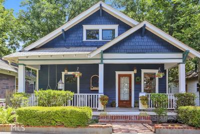 Atlanta Single Family Home New: 592 Waldo St