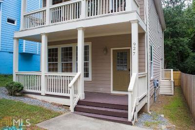 Atlanta Single Family Home New: 927 Tilden St