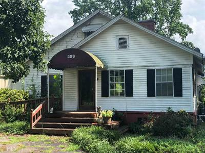 Griffin Single Family Home For Sale: 208 Manley Rd