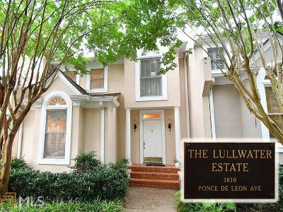 Druid Hills Condo/Townhouse For Sale: 17 Lullwater Est