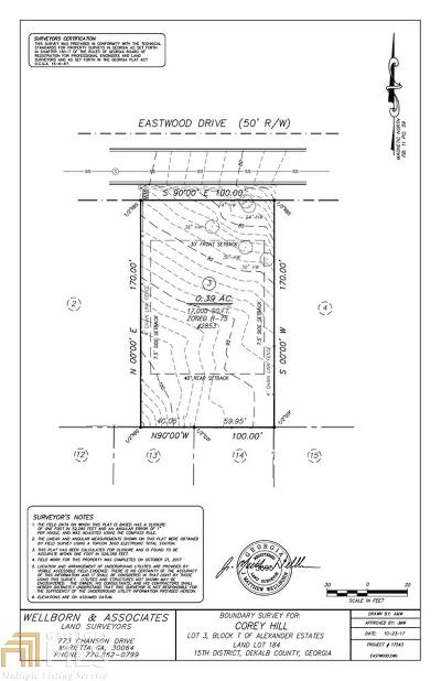 Decatur Residential Lots & Land New: 2853 Eastwood Dr
