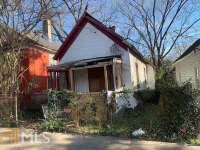 Fulton County Single Family Home New: 964 Coleman Street SW