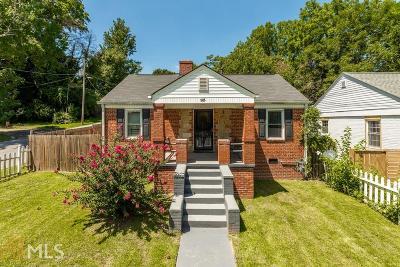 Atlanta Single Family Home New: 93 Parsons Place SW