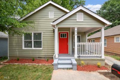 Atlanta Single Family Home New: 873 Thurmond