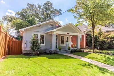 Atlanta Single Family Home New: 308 McPherson Pl