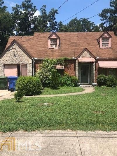 Single Family Home New: 1167 Cahaba Drive SW