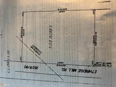 Griffin Residential Lots & Land For Sale: 1526 Ethridge Mill Rd