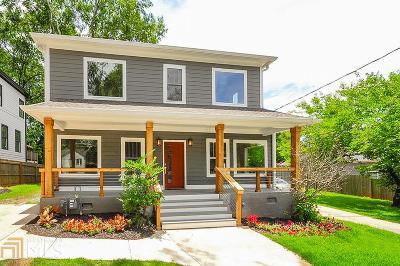 Atlanta Single Family Home New: 1631 Stanwood Ave