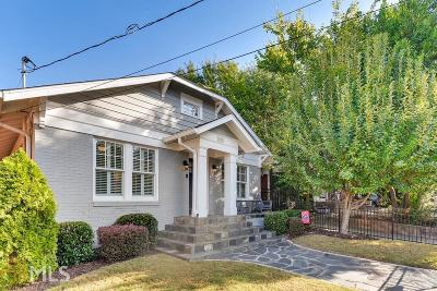 Fulton County Single Family Home New: 1020 Greenwood Avenue NE