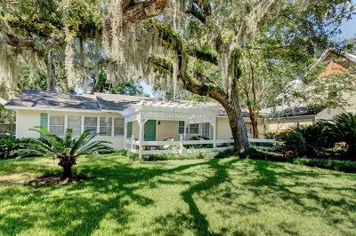 St. Simons Island Single Family Home For Sale: 11803 Old Demere Road