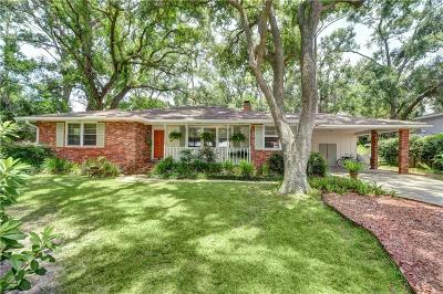 St. Simons Island Single Family Home For Sale: 139 Meadows Drive