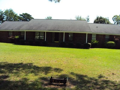 Glennville Single Family Home For Sale: 1612 Homer Waters Road