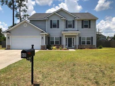 Ludowici Single Family Home For Sale: 80 Dales Pony Trail NE