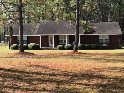 Tattnall County Single Family Home For Sale: 1215 Hwy 178