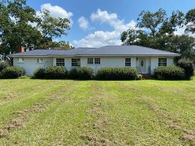 Glennville Single Family Home For Sale: 12844 Hwy Sr 169