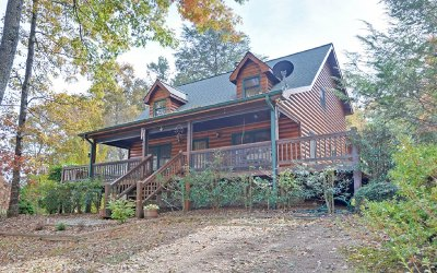 McCaysville Single Family Home For Sale: 5 W. Hidden Valley Lak