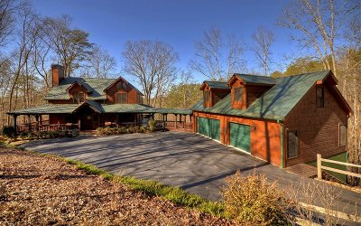 Mineral Bluff Single Family Home For Sale: 488 Toccoa River Forest