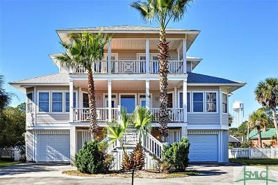 Tybee Island Single Family Home For Sale: 109 Gen George Marshall