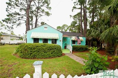 Tybee Island GA Single Family Home For Sale: $389,000
