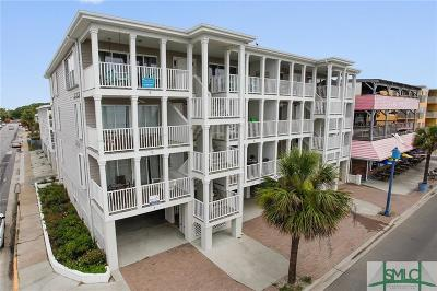 Tybee Island Condo/Townhouse For Sale: 1615 Strand Street #3