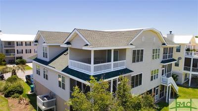 Tybee Island Condo/Townhouse For Sale: 64 S Captains View