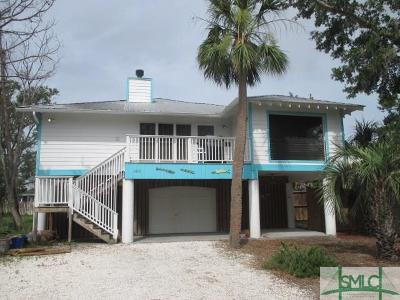 Tybee Island GA Single Family Home Active Contingent: $299,900