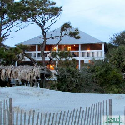 Tybee Island GA Single Family Home Active Contingent: $1,595,000