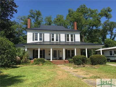 Glennville GA Single Family Home For Sale: $190,500