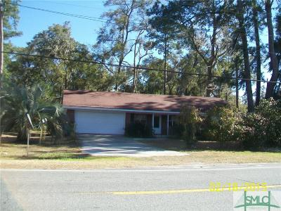 Wilmington Island Single Family Home For Sale: 1512 Walthour Road #Lot 1