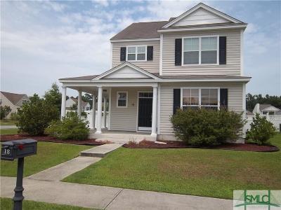 Savannah Single Family Home For Sale: 18 Bushwood Drive