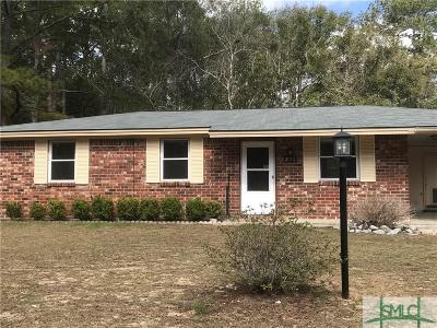 Savannah GA Single Family Home For Sale: $139,900