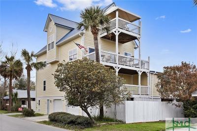 Tybee Island GA Single Family Home For Sale: $1,200,000