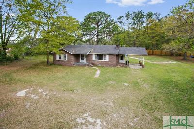 Ellabell Single Family Home For Sale: 2283 Ga Highway 204 Highway