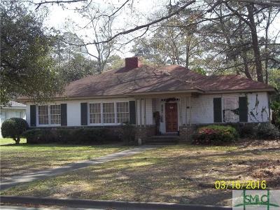 Savannah Single Family Home For Sale: 5114 Abercorn Street