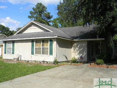Hinesville GA Single Family Home For Sale: $75,000
