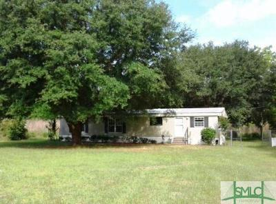 Ellabell GA Single Family Home For Sale: $46,300