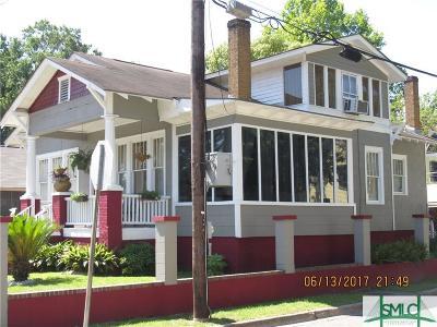 Savannah Single Family Home For Sale: 621 Seiler Avenue