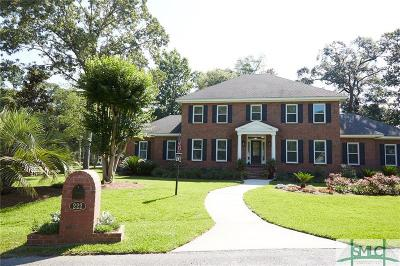 Savannah Single Family Home For Sale: 222 Commodore Drive