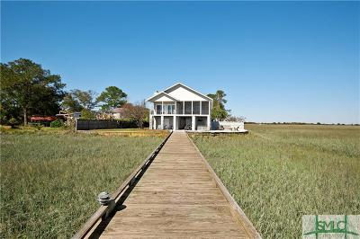 Tybee Island Single Family Home For Sale: 154 Pelican Drive