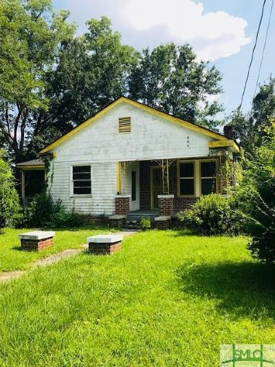 Savannah GA Single Family Home For Sale: $75,000