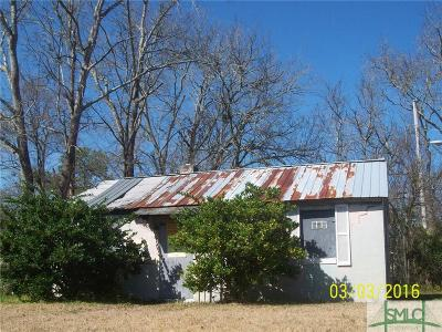 Savannah GA Single Family Home For Sale: $26,000