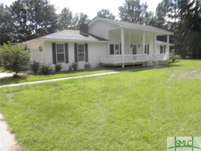 Brooklet Single Family Home For Sale: 3302 Brooklet Leefield Road