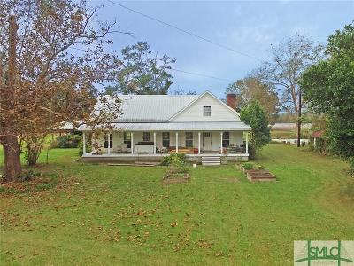 Brooklet Single Family Home For Sale: 3827 Us 80 Highway E