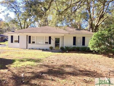 Savannah GA Single Family Home For Sale: $119,000