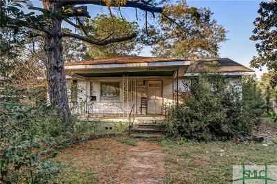 Savannah GA Single Family Home For Sale: $60,000