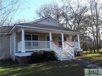 Savannah GA Single Family Home Active Contingent: $138,000