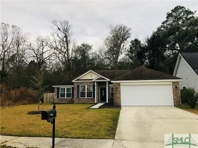 Savannah Single Family Home For Sale: 144 Fontenot Drive