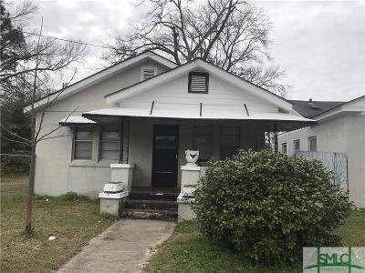 Savannah GA Single Family Home For Sale: $75,000